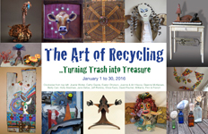 Art of Recycling Exhibit at Sedona Arts Center, Sedona Arizona - January 2016