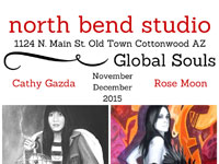 Global Souls exhibit with Cathy Gazda and Rose Moon at North Bend Studio, November - December 2015