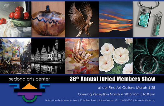 """36th Annual Juried Members Art Exhibit"" March 4 - 28, 2016"